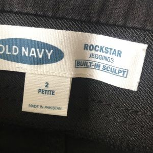 Old Navy Jeans - NWT Old Navy Rockstar Black Jeggings Size 2P